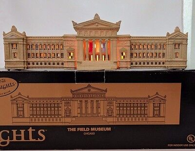 THE FIELD MUSEUM CHICAGO, LIGHTED MODEL by MARSHALL FIELDS, CITY SIGHTS,  w/ BOX
