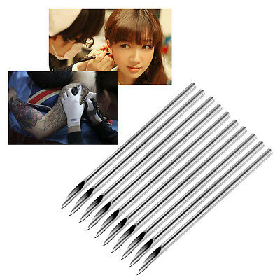 10pcs Surgical Tatto Piercing Needles Medical Tattoo Needles 14g (1.6mm) RS