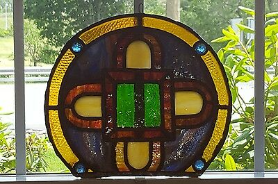 Gorgeous 100+Yr Old Stained Leaded Glass Suncatcher, Patterson Nj Church