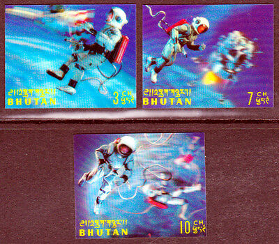 Bhutan 1969 Mint (NH) 3D Stamps - Space Exploration (AA_41)