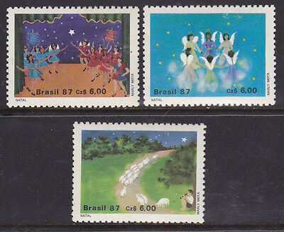 Brazil #2117 to 2119 Mint (LH) Christmas 1987 (Y_38)