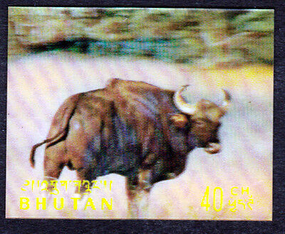 Bhutan 1970 Mint (NH) 3D Stamp - Animal Buffalo (AA_49m)