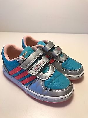 Boys Girls Adidas Trainers Size UK 9.5 K Infants