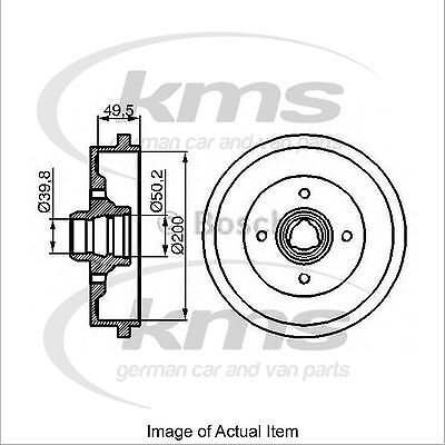 New Genuine MK1 BOSCH Brake Drum 0986477041 Top German Quality
