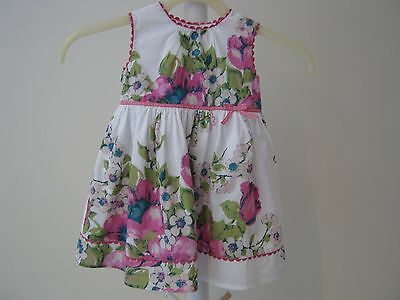 Monsoon Summer Cotton Floral Pink Mix Baby Dress and Pants Age 3-6 Months