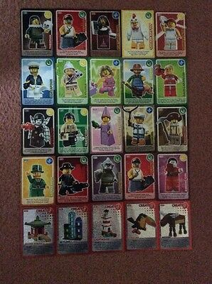 "LEGO ""Create the World"" Sainsbury's 25x Cards (20 Picture & 5 Foils).-. - NEW"