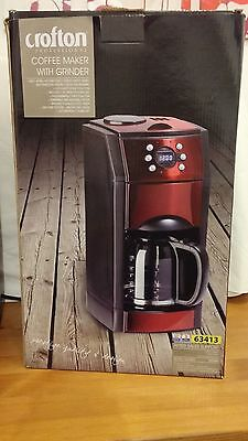 Crofton coffee machine with grinder 1.5L  - Ground or Beans