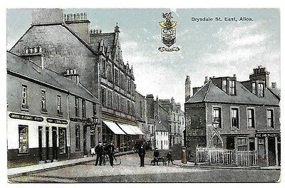 ALLOA Drysdale St East Early Clackmannanshire Postcard Animated