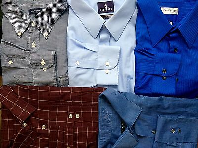 Men's Dress Shirts XXL - Lot of 5 - Mixed Brands, Great Condition -