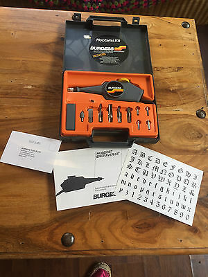 Burgess Hobbyist Kit Engraving Kit With Instructions In Case Hardly Used