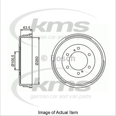 New Genuine BOSCH Brake Drum 0986477223 Top German Quality