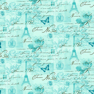 3 sheets of Dolls House Wallpaper 1/12th scale Paris Duck egg Quality Paper #334
