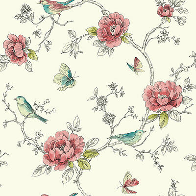3 sheets of Dolls House Wallpaper 1/12th scale  Birds Quality Paper #308
