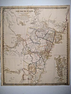 1833 SDUK: Map of New South Wales, Australia - 1st edition, inset plan of Sydney