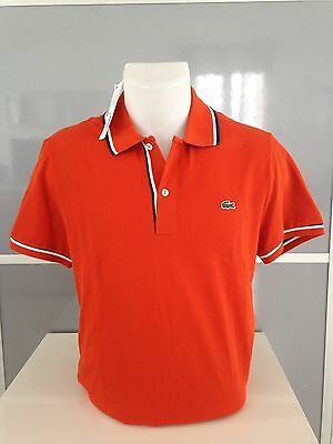 Polo Lacoste Orange Manches Courtes Taille 4 (M)