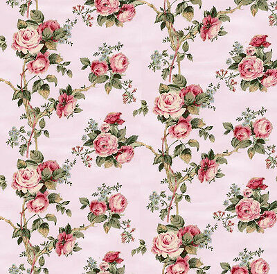 3 sheets of Dolls House Wallpaper 1/12th scale Pink Floral Quality Paper #58