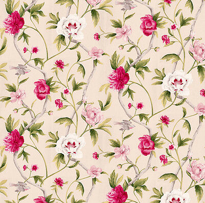 3 sheets of Dolls House Wallpaper 1/12th scale Pink Birds Quality Paper #109