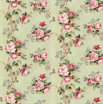 3 sheets of Dolls House Wallpaper 1/12th scale Green Floral Quality Paper #57