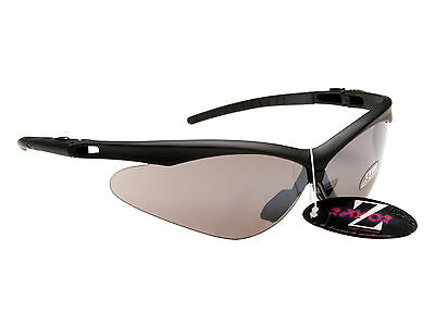 RayZor Uv400 Black Framed Smoked Mirrored Lens Cricket Wrap Sunglasses RRP£49