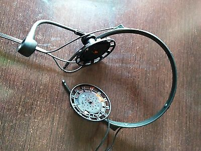 vintage SENNHEISER heaphones with microphone and controller.