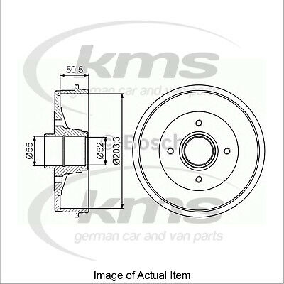 New Genuine BOSCH Brake Drum 0986477173 Top German Quality