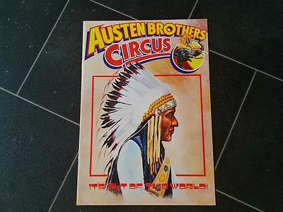 Austen Brothers Circus Programme  1986 not poster
