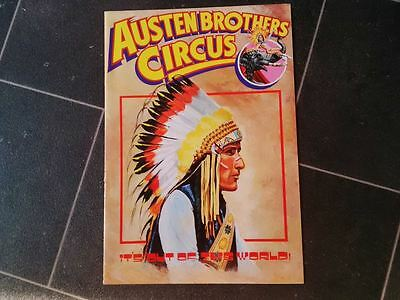 Austen Brothers Circus Programme  1987 not poster