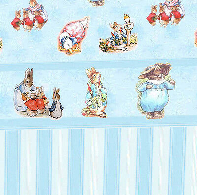 3 sheets of Dolls House Wallpaper 1/12th scale Blue Nursery Quality Paper #137
