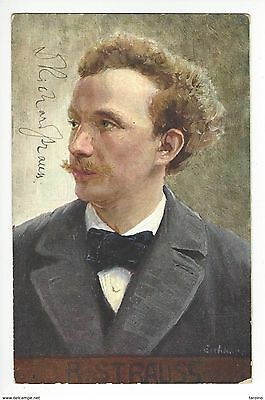RICHARD STRAUSS  composer  PICTURE POST CARD SIGNED autographed
