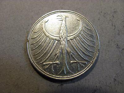 Germany 1951 G 5 Mark Silver Coin XF Extra Fine (X60)