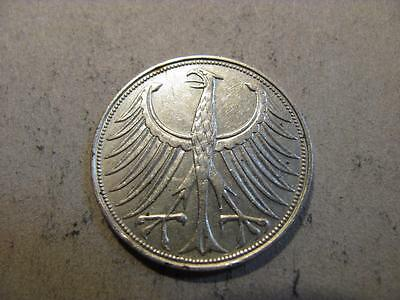 Germany 1951 G 5 Mark Silver Coin XF Extra Fine (X51)