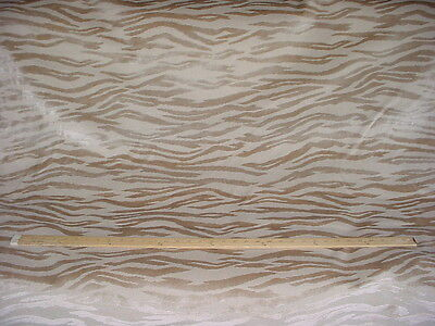 18+y Lee Jofa / Kravet Almond Beige Tiger Stripe Frieze Velvet Upholstery Fabric