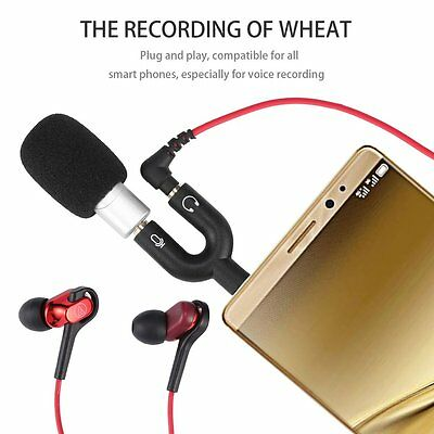 Professional Super Mini R2 3.5mm Voice Recording Microphone For Mobile Phone RS