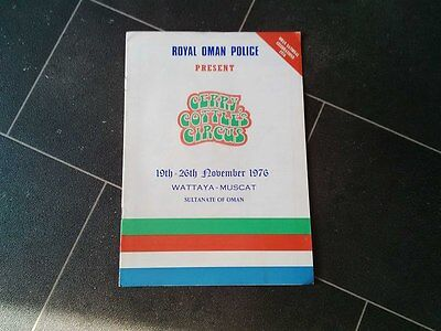 Gerry cottles circus programme Oman  1976   not poster