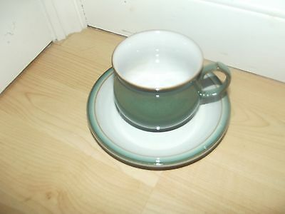 denby regency green cups and saucers x 6 unused