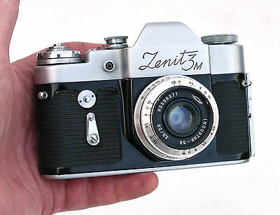 Early Vintage Russian ZENIT 3M 35mm SLR Camera VGC WO Industar 50mm M39 Leica