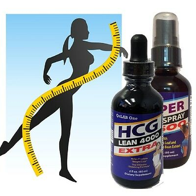HCG Extra 2-oz Drops + Super Lean 2500 Combo - Based on Dr. Simeons Research