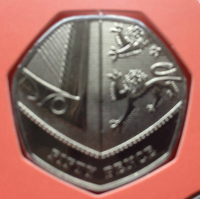 2011 Royal Mint Shield Fifty Pence 50p BU Coin Uncirculated UNC