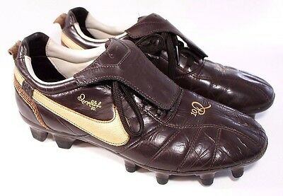 Nike Ronaldinho Cleats Size 7 Tiempo Legend FG 10R Classic Soccer Shoes Brown