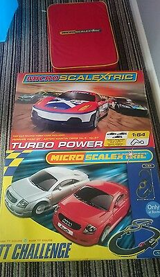 3 micro scalextric sets