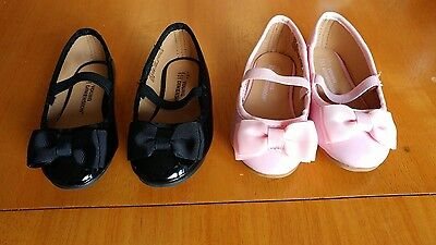 2x Baby Girl Shoes size uk3