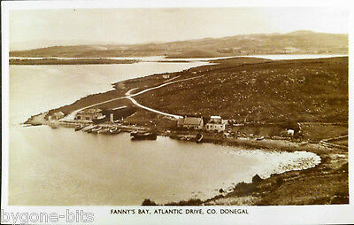 FANNY'S BAY ATLANTIC DRIVE CO DONEGAL POSTCARD 1930's IRELAND