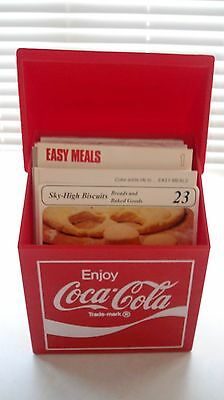 Vintage Coca Cola Recipe Box With Recipes