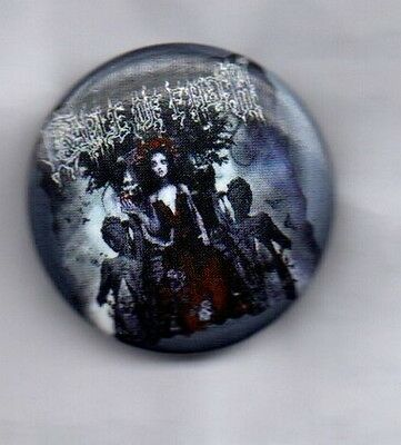 CRADLE OF FILTH BUTTON BADGE - EXTREME METAL BAND  25mm PIN MIDIAN