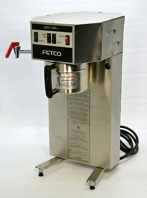 Fetco CBS-31Aap Single Airpot Auto Coffee Brewer Machine w/Hot Water Faucet Tap