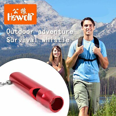 Outdoor Camping Expedition Training Whistle Aluminium Alloy Survival Whistle RS
