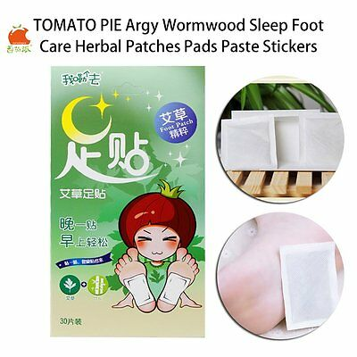 TOMATO PIE Argy Wormwood Sleep Foot Care Herbal Patches Pads Paste Stickers RS