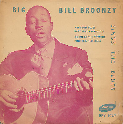 BIG BILL BROONZY  SINGS THE BLUES EP  TRI CENTRE UK OG  EARLY 50s BLUES THRILLER