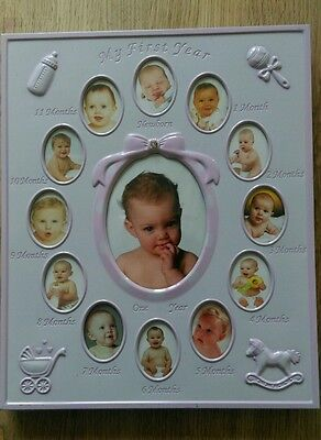 baby girls first year photo frame