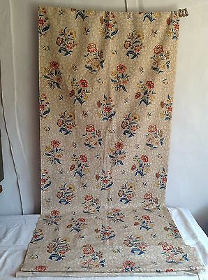 Vintage Floral French Fabric Medium Weight Cotton 360cm Furnishings - Unused